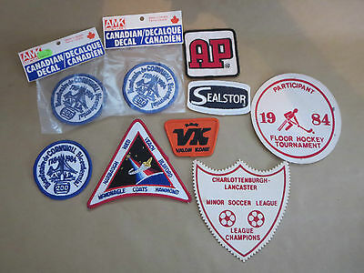 Vintage Lot Of Cloth Patches From Canada