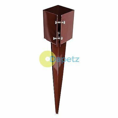 Drive-In Post Anchor 100 X 100 X 750mm - 4 Finned Spike No Need For Digging