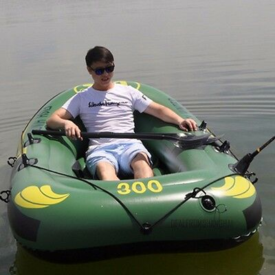 Inflatable Boat Dingy Raft Kayak Canoe 2 Person Double Seating Fishing Beach Hot
