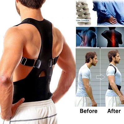 1 Multi Black Back Shoulder Posture Corrector Brace Belt, Boy Girl Birthday Gift