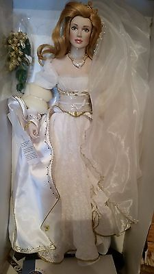 Franklin Mint Beautiful Colleen The Irish Bride New Porcelain Doll Limited Rare