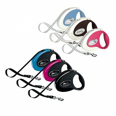 FLEXI  COLLECTION retractable tape leash with soft grip Dog Extending lead S & M