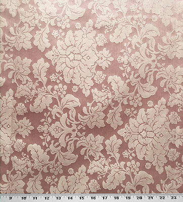 Drapery Upholstery Fabric Tone On Tone Floral Damask 114 W Petal