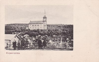 Old Finland Postcard, Black and White, Church, Village Life, Unposted