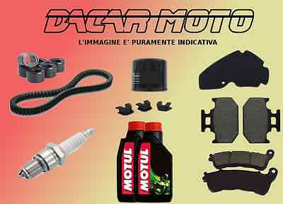 CUTTING KIT PIAGGIO MP3 125 IE TOURING 2011 2012 BELT - ROLLERS 7.3 g And OTHER