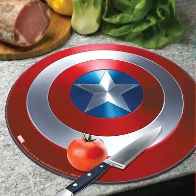 """Marvel Avengers Captain America Shield Tempered Glass Cutting Board - 11 3/4"""""""