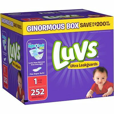 luvs ddiapers in size 1 to 3