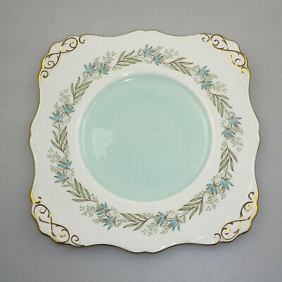 Vintage Tuscan Bone China Cake Plate Fresco