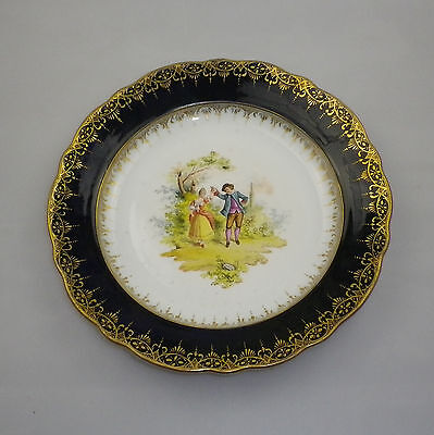 Antique Dresden Plate Hand Painted