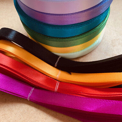 "5 yds Satin Ribbon 10mm 3/8"" scrapbook sewing craft single sided diy sewing #202"