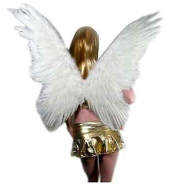 NEW SACAS Large Feather Butterfly Fairy Angel Wing s in White one size