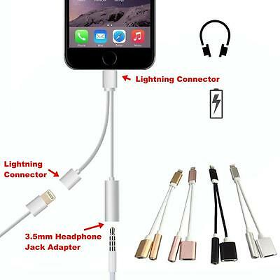 Lightning to 3.5mm Aux Headphone Jack Audio Charger Adapter for iPhone 7 /7 Plus