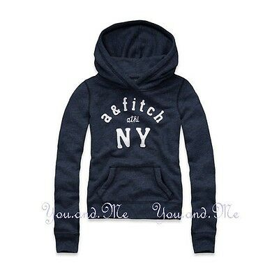 NEW ABERCROMBIE & FITCH KIDS * A&F Girls Hoodie Pullover Jacket * Brenna Navy S