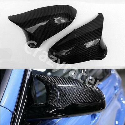 Carbon Fiber Replacement Side Wing Mirror Cover Caps for BMW F80 M3 F82 M4