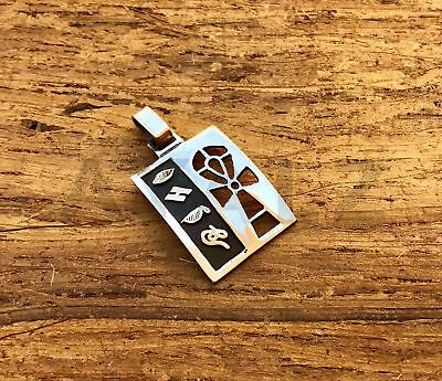 Egyptian Personalized Sterling Silver Wide Cartouche With Ankh Life Key Cross