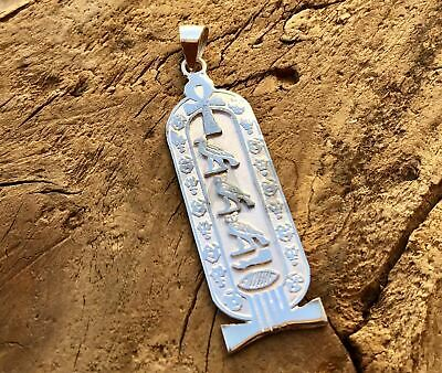 Egyptian Personalized Name Sterling Silver Ankh Cartouche Express Ship to USA