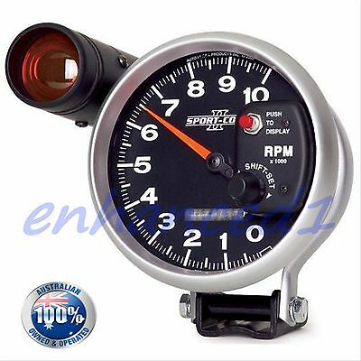 "✪ BLACK 5"" Monster Tacho Sport-Comp II Style; Tachometer Auto Meter inch shift"
