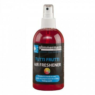 Glimmermann car Air Freshener spray 300ml Tutti Frutti fragrance Carpet Mats