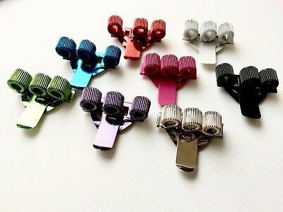 PEN CLIP HOLDER 3 HOLE - 9 Colours - Doctor - Police - Nurse - BUY 1 TO 10