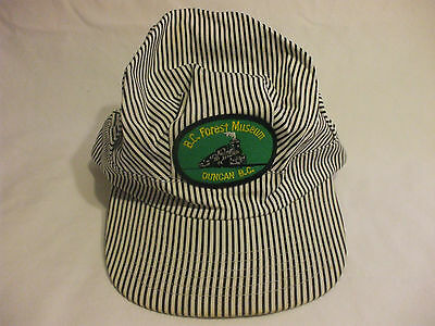 B.C Forest Museum Duncan B.C Train Stripe Adjustable Cap One Size Fits All