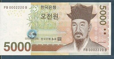 Korea 5000 Won, 2006, P 55, UNC