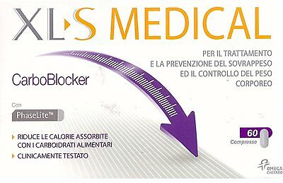 Xls Medical Carboblocker Controllo Peso 60 Cpr Integratore Dieta Dimagrante