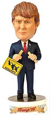 Donald Trump Bobble Head Immigration Sign Modern Presidential Collectible Doll