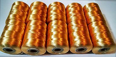 10 x Golden Strong Nylon Sewing Thread embroidery Spools Silk Heavy Duty Spools