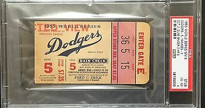 Vintage Sports Memorabilia 1955 Baseball World Series Phantom Proof Full Ticket Chicago Comiskey Game #2 Customers First