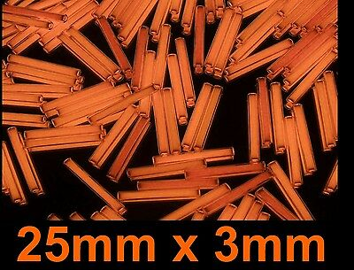 25mm x 3mm ORANGE Tritium Isotope,Very Rare Size,Glows Non Stop,Limited Quantity