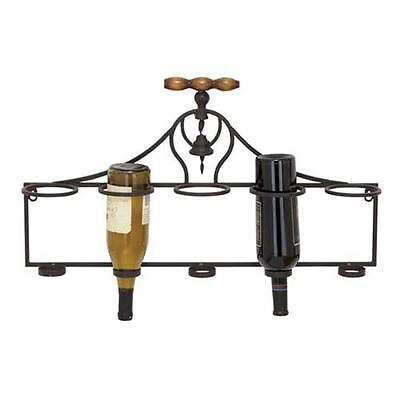 Woodland Import 55481 Wall Wine Rack with Minimalistic Style and Dark Finish