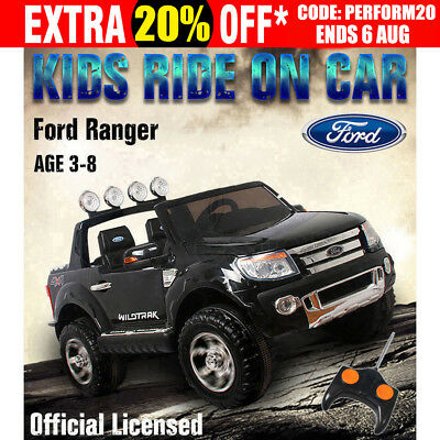Licensed Ford Ranger Electric Kids Ride on Car Truck Children Toy Remote Black