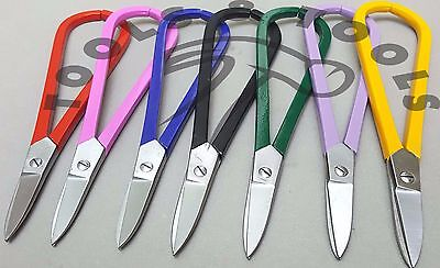 "7"" Metal Tin Snips  Jewellers Cutting Shears Crafts Wire Work Straight 7 Colors"