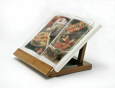 Dictionary Stand Book Holder Reading Bamboo Wood Kitchen Recipie Portable Gift