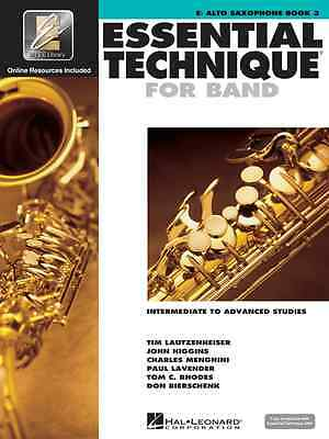 Essential Technique For Band 3 Alto Saxophone Music Book Sax W/Online Access New