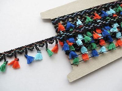 1m of tassel fringe trimming, festival crochet craft dance edging