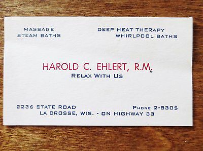 Business cards la crosse wi image collections card design and card unspecified unknown date ephemera paper collectibles page 45 1940s harold ehlert rm la crosse wi business reheart Image collections