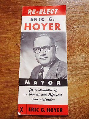 1950s Re-Election Campaign Mayor Eric Hoyer Minneapolis MN Political Brochure
