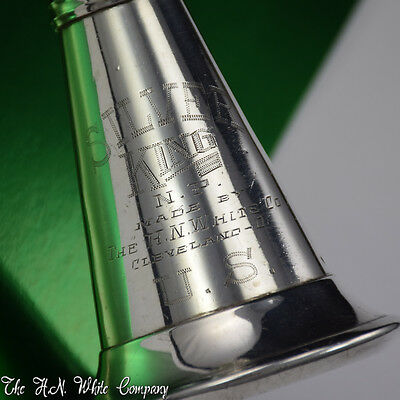"""Vintage """"Silver King"""" H. N. White Clarinet Sterling Silver Bell Remarkable"""