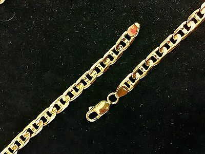 99777a2b8 MENS 14K Gucci Link CHAIN 6MM 22 INCH Solid YELLOW GOLD 38.7G ...