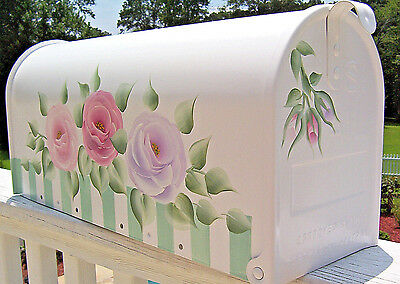 Hand Painted Mailbox FREE SHIPPING Decorative Chic Cottage Shabby  Roses