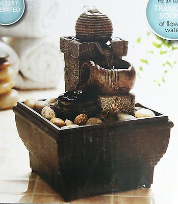 Stone Effect Water Fountain Indoor Slate Feng Shui Table Decoration