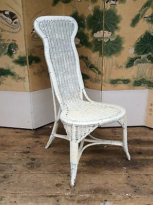 Vintage Wicker Garden Lounge/Bedroom Nursing Chair. Possibly Lloyd Loom.STYLISH!