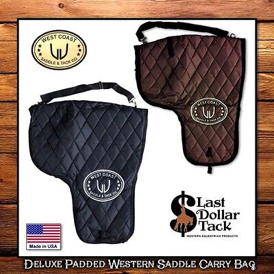 West Coast Western Saddle Carrying Bag ~ Quilted & Padded Deluxe Quality