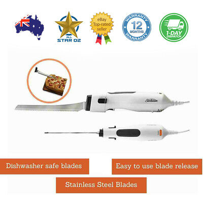 Electric Knife Stainless Steel Sunbeam Multi Purpose Meat Bread Carving Blades