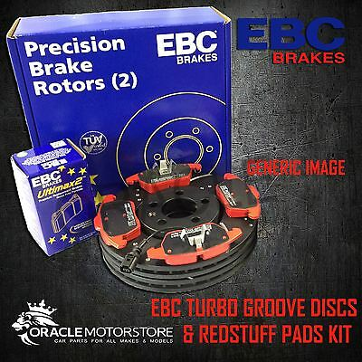 NEW EBC 320mm REAR TURBO GROOVE GD DISCS AND REDSTUFF PADS KIT PD12KR059