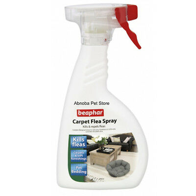 Beaphar Carpet Flea Spray Dual-action, both kills and repels fleas up to 2 weeks