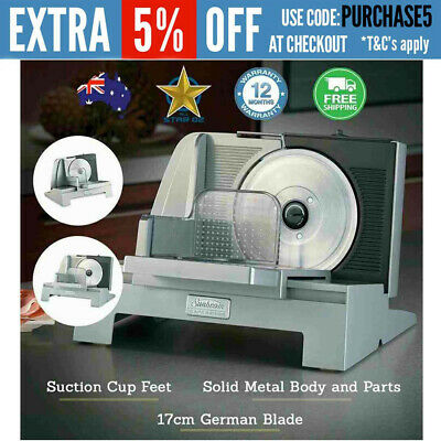Meat Slicer Electric Food Cheese Vegetable Bread Carver Deli Style NEW