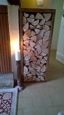 A tall hand-crafted Lehon log store
