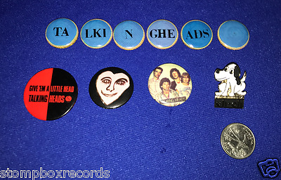 LOT of(3)Talking Heads PROMO PIN BUTTON David Byrne Little Creatures RARE!